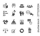 democracy icons  mono vector... | Shutterstock .eps vector #277229204