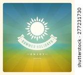 summer holidays poster design.... | Shutterstock .eps vector #277231730