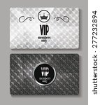 vip silver textured cards | Shutterstock .eps vector #277232894