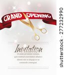 grand opening card with... | Shutterstock .eps vector #277232990