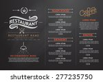 vintage and art restaurant menu ... | Shutterstock .eps vector #277235750