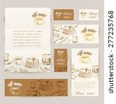 vector hand drawn breakfast and ... | Shutterstock .eps vector #277235768