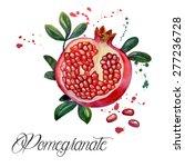 fruit pomegranate  ... | Shutterstock .eps vector #277236728