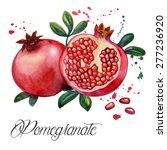 fruit pomegranate  ... | Shutterstock .eps vector #277236920