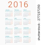 calendar for 2016 on white... | Shutterstock .eps vector #277237250