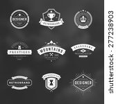 retro vintage logotypes or... | Shutterstock .eps vector #277238903