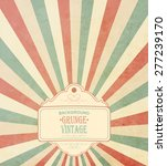vintage frame with grunge... | Shutterstock .eps vector #277239170