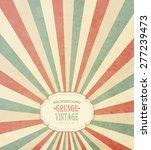 vintage frame with grunge... | Shutterstock .eps vector #277239473