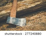 axe for woodworking with... | Shutterstock . vector #277240880