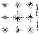 set compass wind rose isolated... | Shutterstock .eps vector #277244438