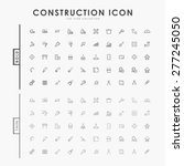 construction bold and thin... | Shutterstock .eps vector #277245050