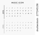 music bold and thin line icons | Shutterstock .eps vector #277245158