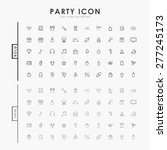party bold and thin outline... | Shutterstock .eps vector #277245173
