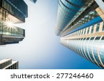 abstract futuristic cityscape... | Shutterstock . vector #277246460