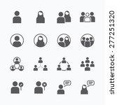 people icon vector flat line...   Shutterstock .eps vector #277251320