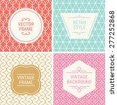 set of vintage frames in red ... | Shutterstock .eps vector #277252868