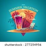 summer card   poster   template.... | Shutterstock .eps vector #277254956