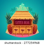 tiki bar. summer card   poster  ... | Shutterstock .eps vector #277254968