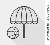 beach umbrella with ball flat... | Shutterstock .eps vector #277275473
