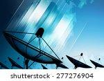 satellite dish transmission... | Shutterstock . vector #277276904