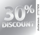 30  discounts whit silver... | Shutterstock . vector #27727858