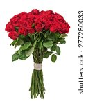 Stock photo colorful flower bouquet from red roses isolated on white background closeup 277280033