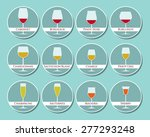 wine glasses icon set made in...