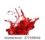 red juice splash closeup... | Shutterstock . vector #277298546