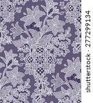 lilies seamless pattern lace. | Shutterstock .eps vector #277299134