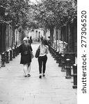friends walking in the streets... | Shutterstock . vector #277306520