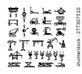 Set Icons Of Lifting Equipment...