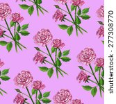 pattern bouquet of roses | Shutterstock .eps vector #277308770
