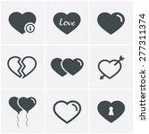 hearts  icons set  vector design   Shutterstock .eps vector #277311374