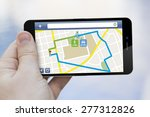 route planning concept  3d... | Shutterstock . vector #277312826