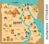 design egypt travel and... | Shutterstock .eps vector #277318163