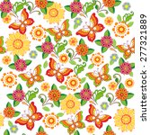 colorful floral seamless... | Shutterstock .eps vector #277321889
