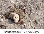 Head Of Children's Doll Thrown...