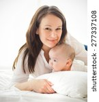 portrait of a happy mother and... | Shutterstock . vector #277337108