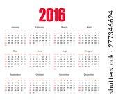 calendar  2016.  european... | Shutterstock .eps vector #277346624