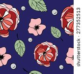 seamless pattern  with floral...   Shutterstock .eps vector #277352513