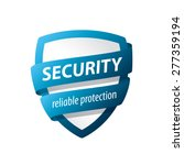 Vector Logo Blue Shield For...
