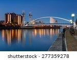 the salford quays lift bridge ... | Shutterstock . vector #277359278