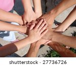 a lot of hands my friends | Shutterstock . vector #27736726