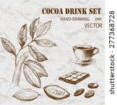 cocoa set hand drawing  | Shutterstock .eps vector #277368728