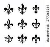 set of various fleur de symbols ...   Shutterstock .eps vector #277369364