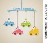 happy birthday or baby shower... | Shutterstock .eps vector #277372640