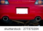 blank license plate on red car | Shutterstock . vector #277373204