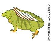 illustration of iguana | Shutterstock .eps vector #277385060