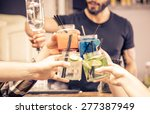 toast with cocktails glasses.... | Shutterstock . vector #277387949