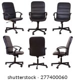 black office chair isolated on... | Shutterstock . vector #277400060